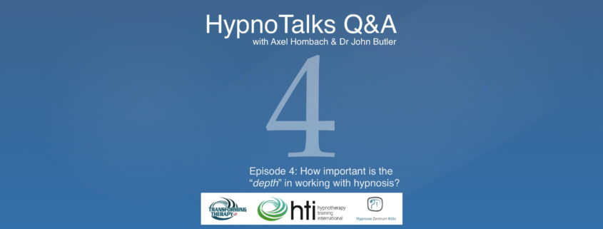 HypnoTalks Questions & Answers with Axel Hombach & Dr John ...